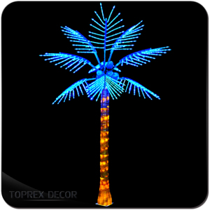 IP65 led outdoor solar coconut palm tree lights for sale