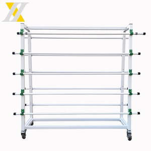 Metal Carpet Display Stand/Display Rack for Rug/fabric display rack