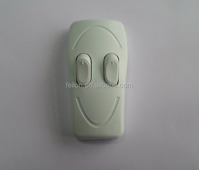 different color 250V 3*1A smile table lamp switch