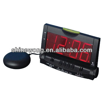 black alarm clockwith Bed Shaker/Big LED Alarm Clock