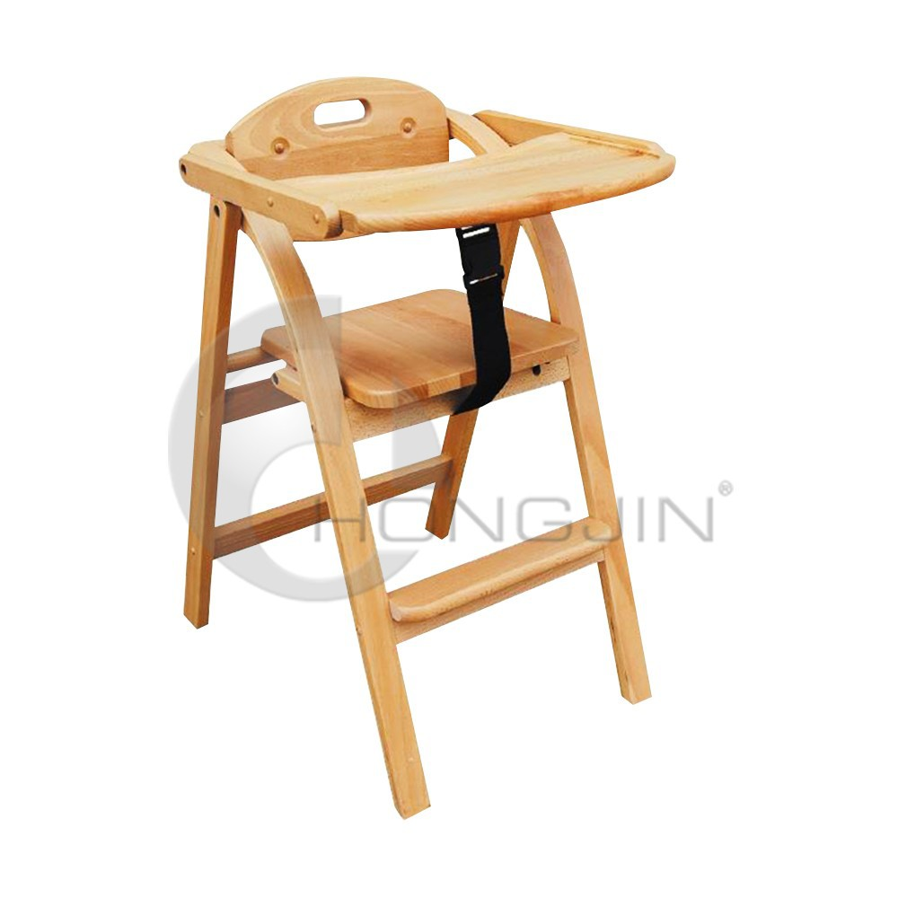 Hongjin Restaurant Baby Feeding Chairs/ Wooden Baby High Chairs