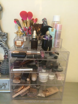 Factory Price Clear Acrylic Makeup Organizer Divisoria Acrylic - Clear acrylic makeup organizer