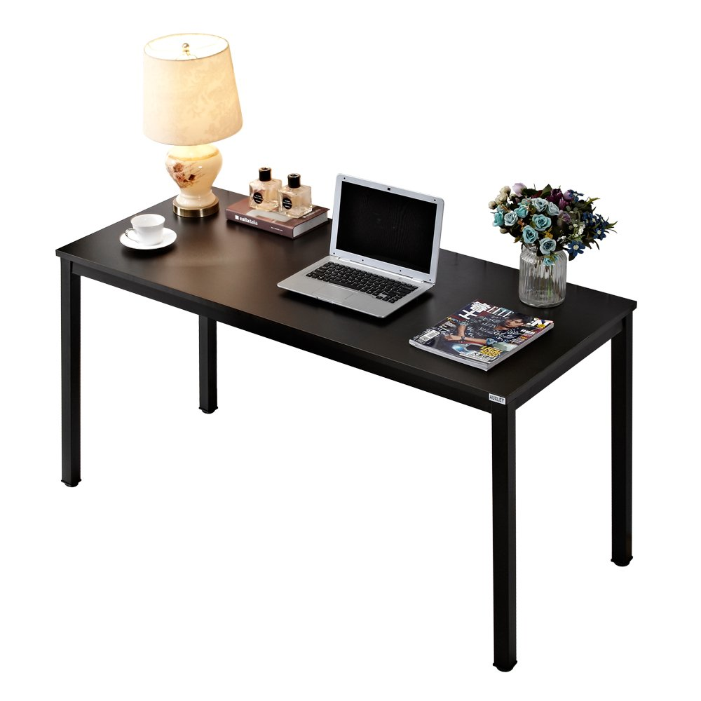 Simple Modern Office Desk Portable Computer Desk Home: Buy AUXLEY Computer Desk 55 Inch Modern Simple Office