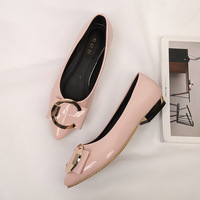 ZH0370L Elegant ladies relax flat pointed shoes 42-43 women large size shoes wholesale