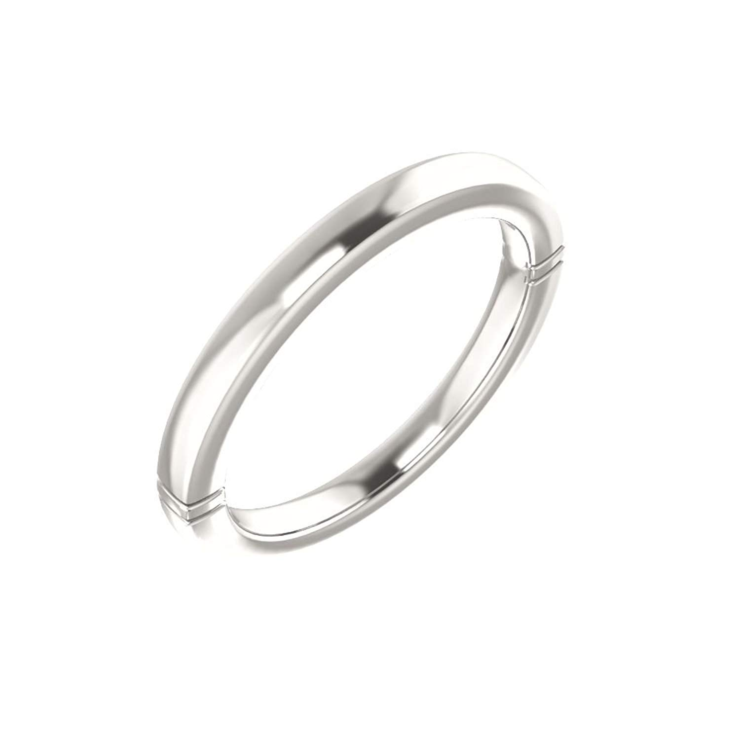 Bonyak Jewelry Continuum Sterling Silver Band for 5mm Square Ring - Size 7