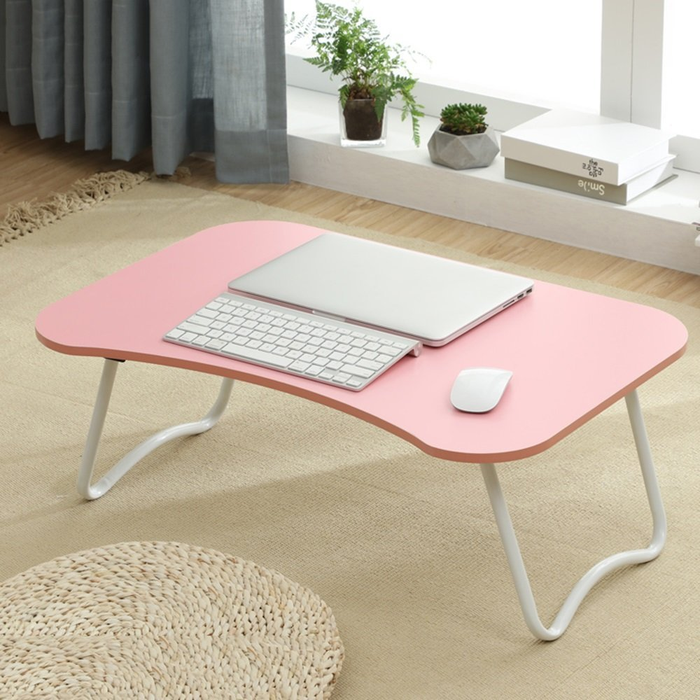 PM Folding tables Tables Folding Laptop Desk Table Stand, Computer Laptop Stand,Foldable Breakfast Tray,Study Desk,Lazy Table Bed Desk,Portable Folding (Color : L-704527)