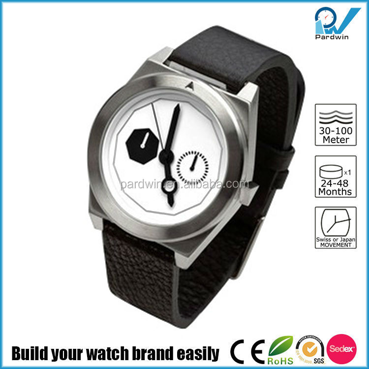 316L stainless steel chrome hair brushed matte watch