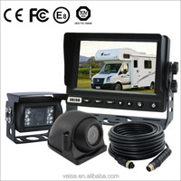RV camera backup system 2 cameras setup with side camera