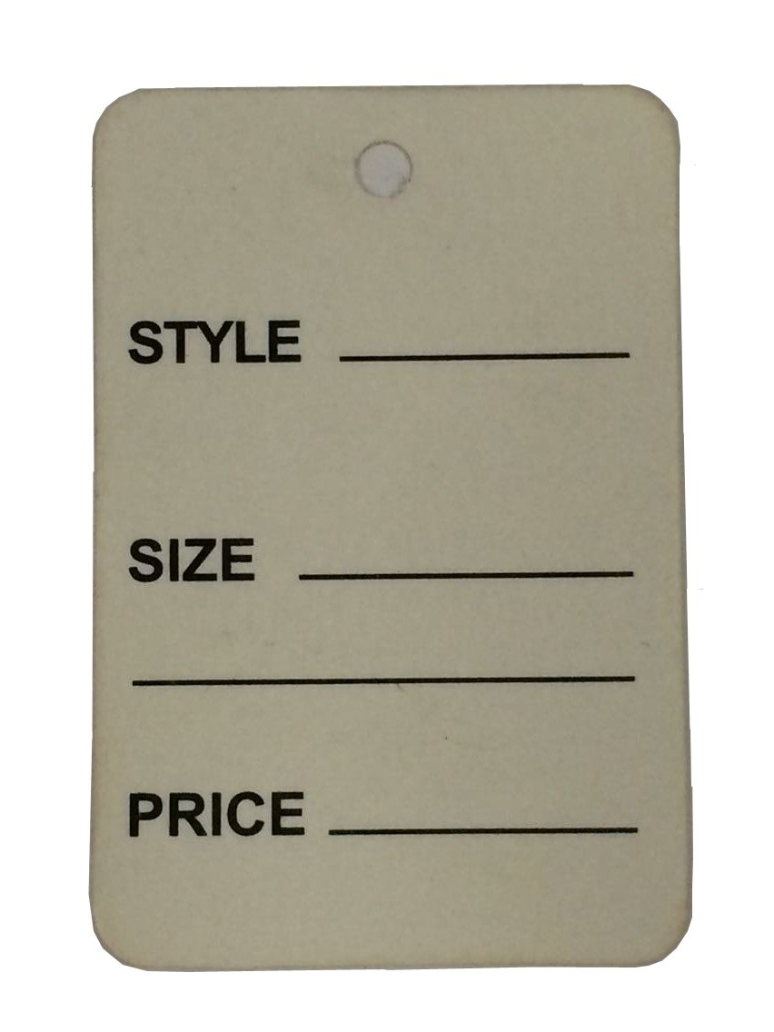 "1000pcs Gray Color One Part Unstrung Perforated Price Coupon Tag Clothing Price Labels/clothing Tag/perforated Price Coupon Tags 1 1/4"" X 1 7/8"""