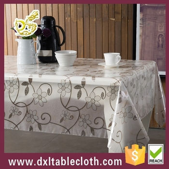 Square Plastic Table Cover Recycled Pvc Long Lace Tablecloth Roll