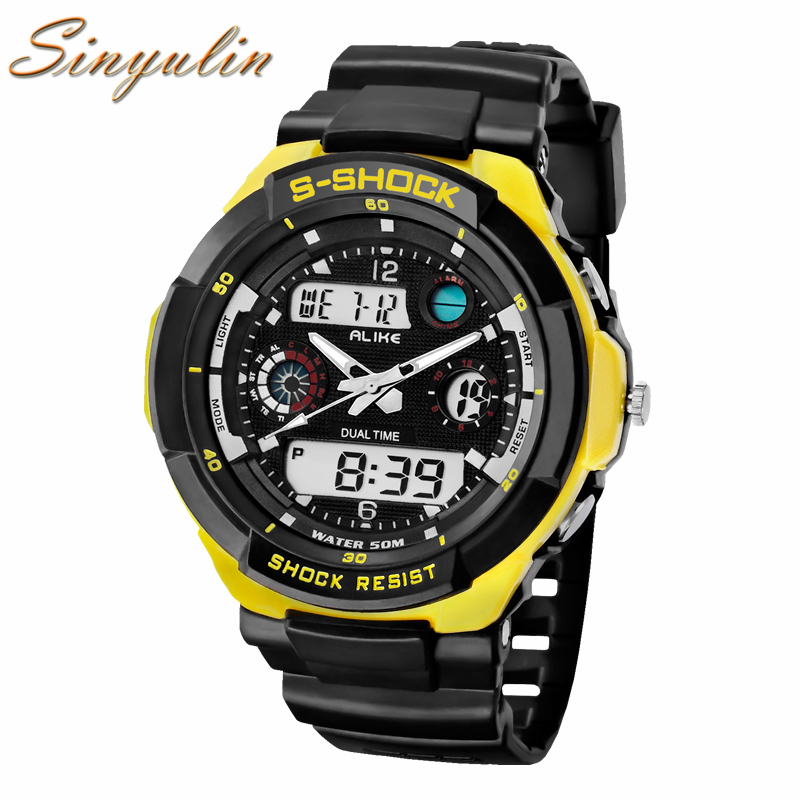2017 <strong>Men</strong> New Brand Analog Digital Outdoor Sports Watch Luxury Military Watches