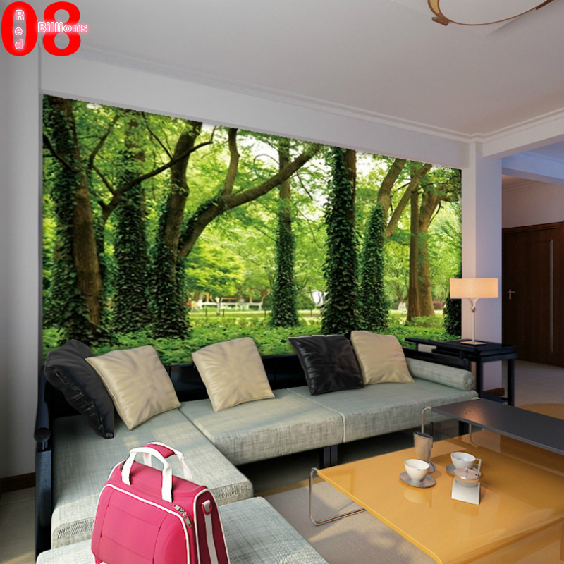 Large Tv Background Wall Paper Bedroom Sofa Mural