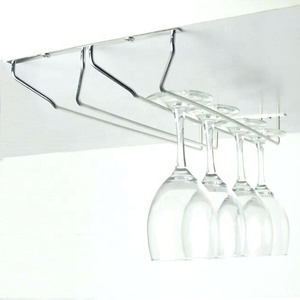 FREE SAMPLE Chrome Plated Wine Glass Cup Kitchen Bar Rack Holder Hanger