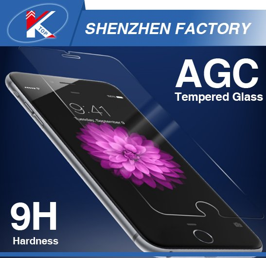 2016 9H Hardness Anti Blue Light Mobile Tempered Glass Cell Phone Screen Protector for iPhone 5 5S 6 6S 7 ASAHI AGC Material