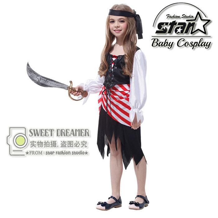 Masquerade Party Halloween Caribbean Pirate Costumes font b Children b font Girls font b Fancy b