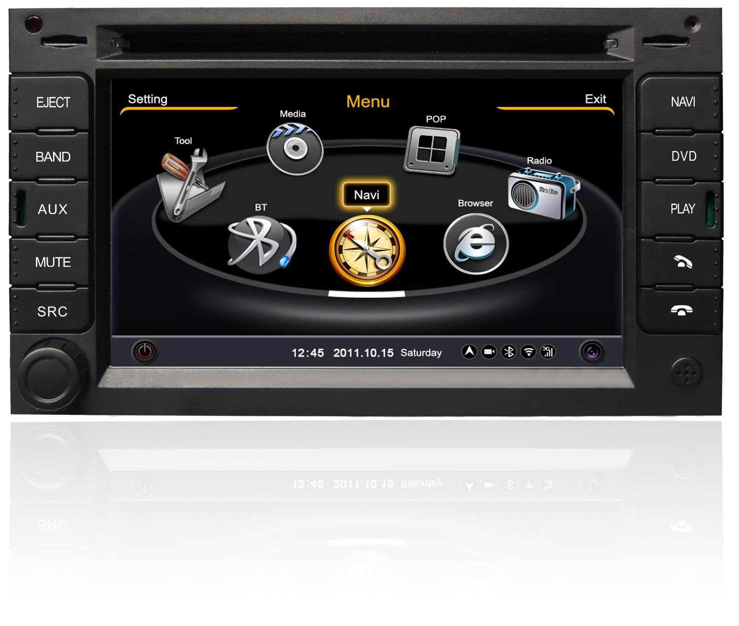 Koolertron For VW GOLF IV & Passat B5 & old Bora & Jetta 2004 Car DVD GPS Navigation With 3 Zone POP 3G/WIFI/20 Disc CDC/ DVD Recording/ Phonebook / Game with GPS Navigation Vehicle GPS with Maps (OEM Factory Style,Free Maps)