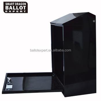 Billige Metall Schwarz Wahl Box Geld Spende Box Aufbewahrungsboxen