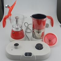 2016 new products 2 in 1 cappuccino coffee machine best espresso coffee maker and milk frother set