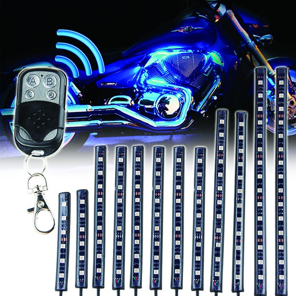Waterproof 12v Motorcycle 5050 Rgb Led Strip Light,Included 12pcs ...