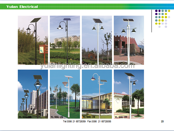 YULAN newest product 15w/25w/50w/3.5m solar light led for garden
