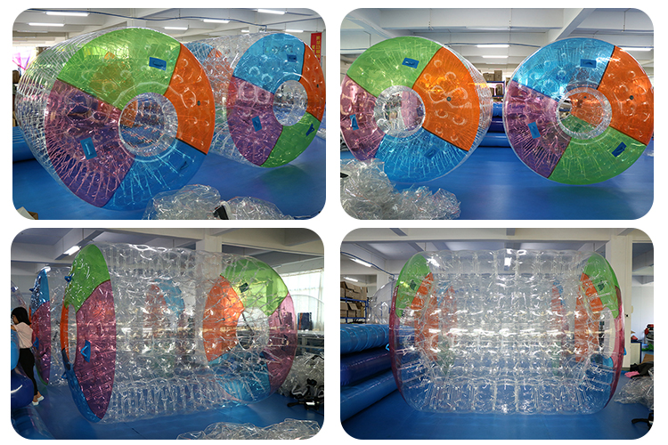 inflate ball air valve rollers inflatable water roller for sale
