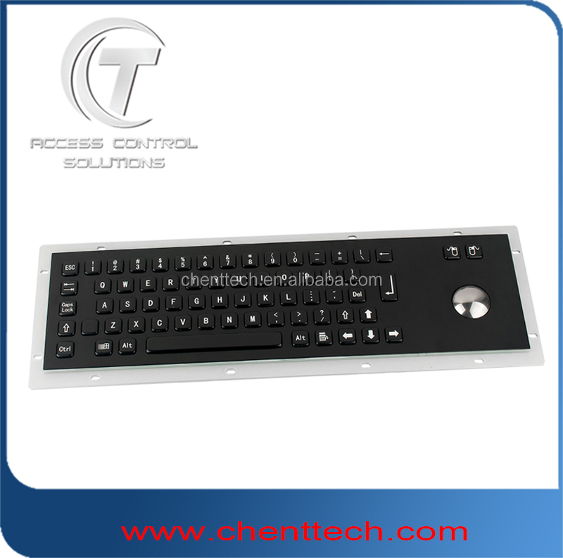 metal pc usb keyboard with trackball