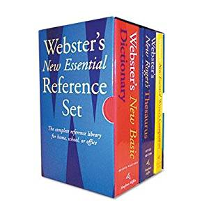 """Houghton Mifflin - Webster's New Essential Reference Three-Book Desk Set Paperback """"Product Category: Forms Recordkeeping & Reference Materials/Reference Materials"""""""