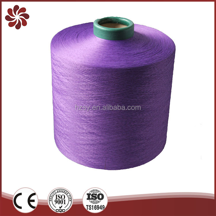 Factory Supplier Twist Types Hand Stitching Dty Polyester Yarn