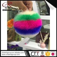 Professional Manufacturer ODM Faux mini large yarn 2 pom poms