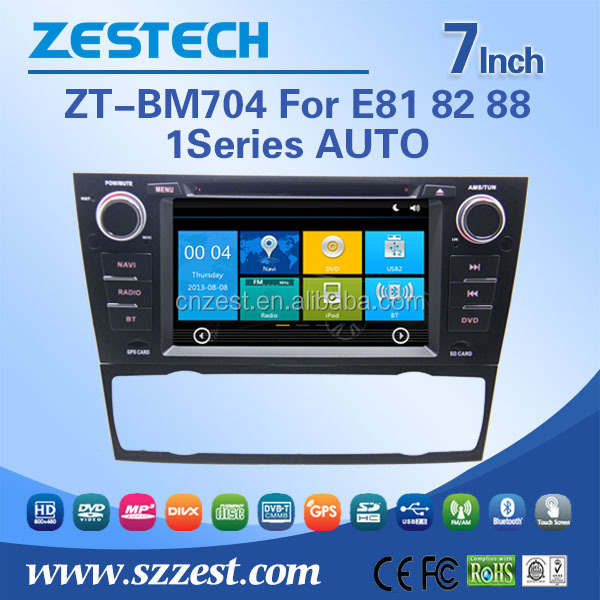 ZESTECH 7INCH HITH QUALITY CAR MULTIMEDI WITH LOW PRICE FOR BMW E81 82 88 1SERIES CAR AUDIO CAN BE PUT IN DASHBOARD, TOUCH SCREE