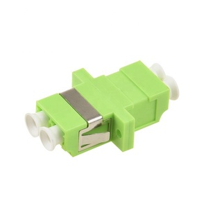 Optic RoHS SGS CE UPC APC Fiber connection Duplex Lime Green LC om5 adapter