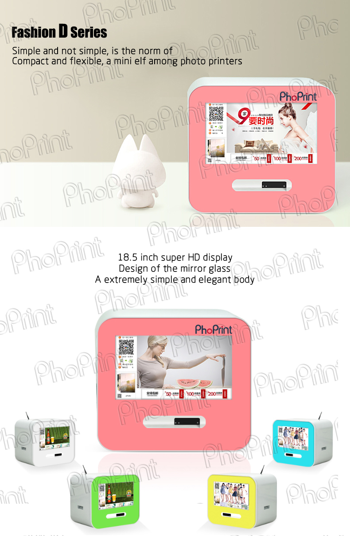Digital signage ad player minilab photo booth insta-gram print machine case shell oem vending photo kiosk boft case custom made