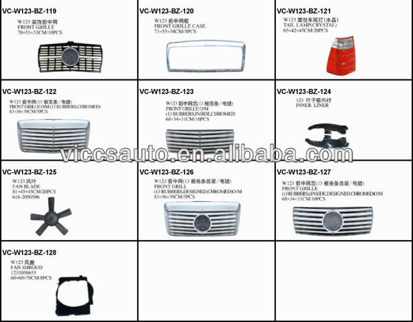 Head Lamp With Corner Lamp (crystal) For Benz W123 76-84