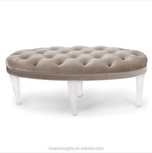 Diminutive laigh lucite sofa with soft cushion used for living room