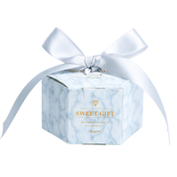 Marble Hexagon Wedding Gift Candy From Around The World Box