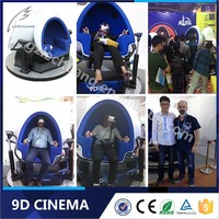China Most Promissing Project 360 Degree Platform Amusement Park 9D Virtual Reality Cinema with 3 blue seats