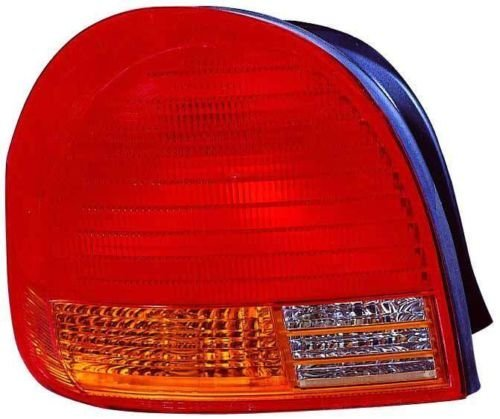 Matte Black w//Red Lens 4into1 Lucas Style Tail Light Assembly