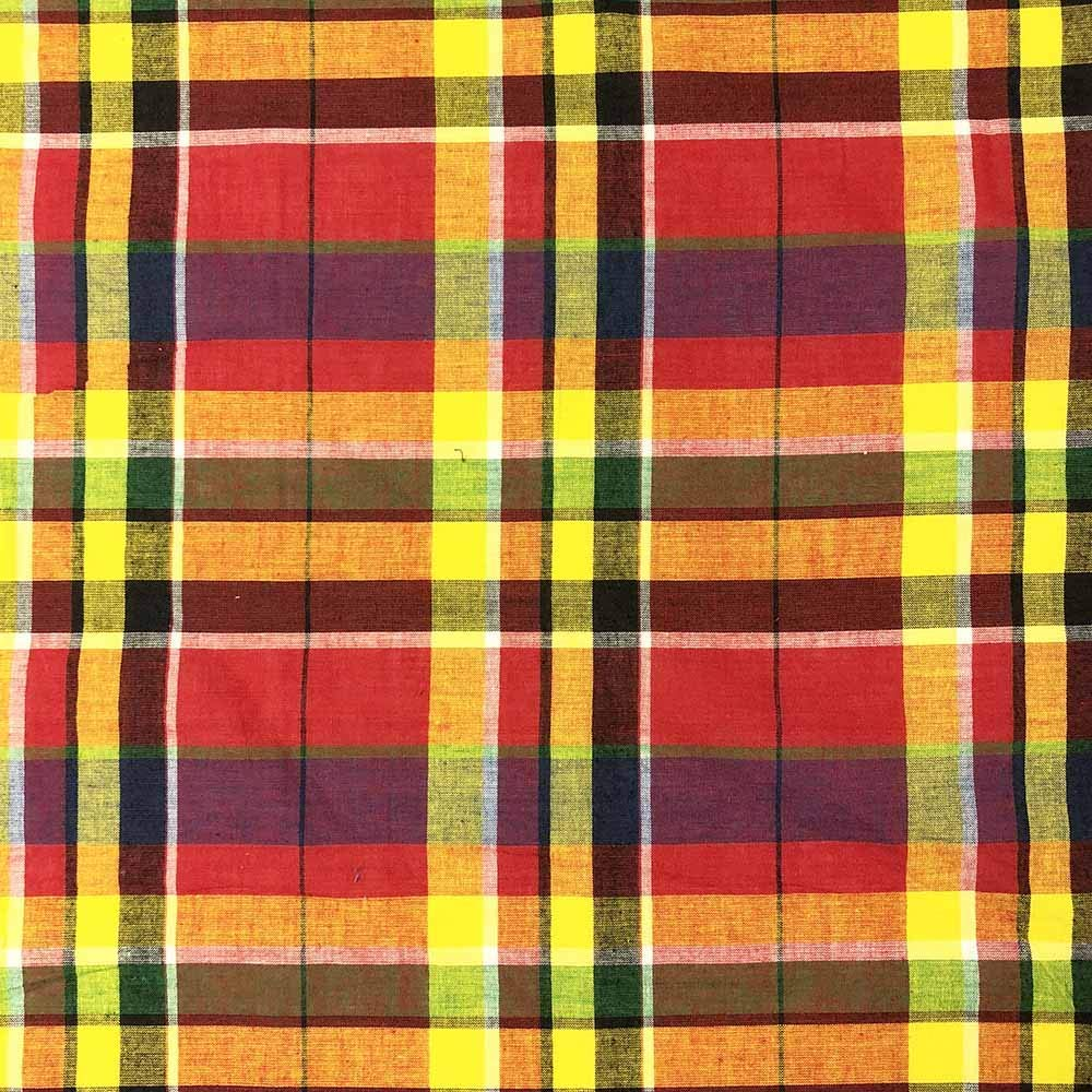 """Madras Plaid Fabric (Style 16133) 100% Cotton Printed Fabric 44/45"""" Wide Sold BTY Shirts, Dresses, Apparel, Event Decor"""