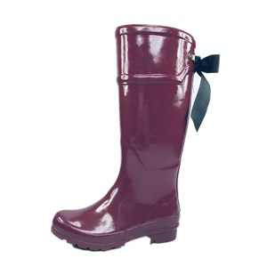 Fashion Popular Knee Hight Lady Rubber Rain Boot Horse Riding Boot For Women