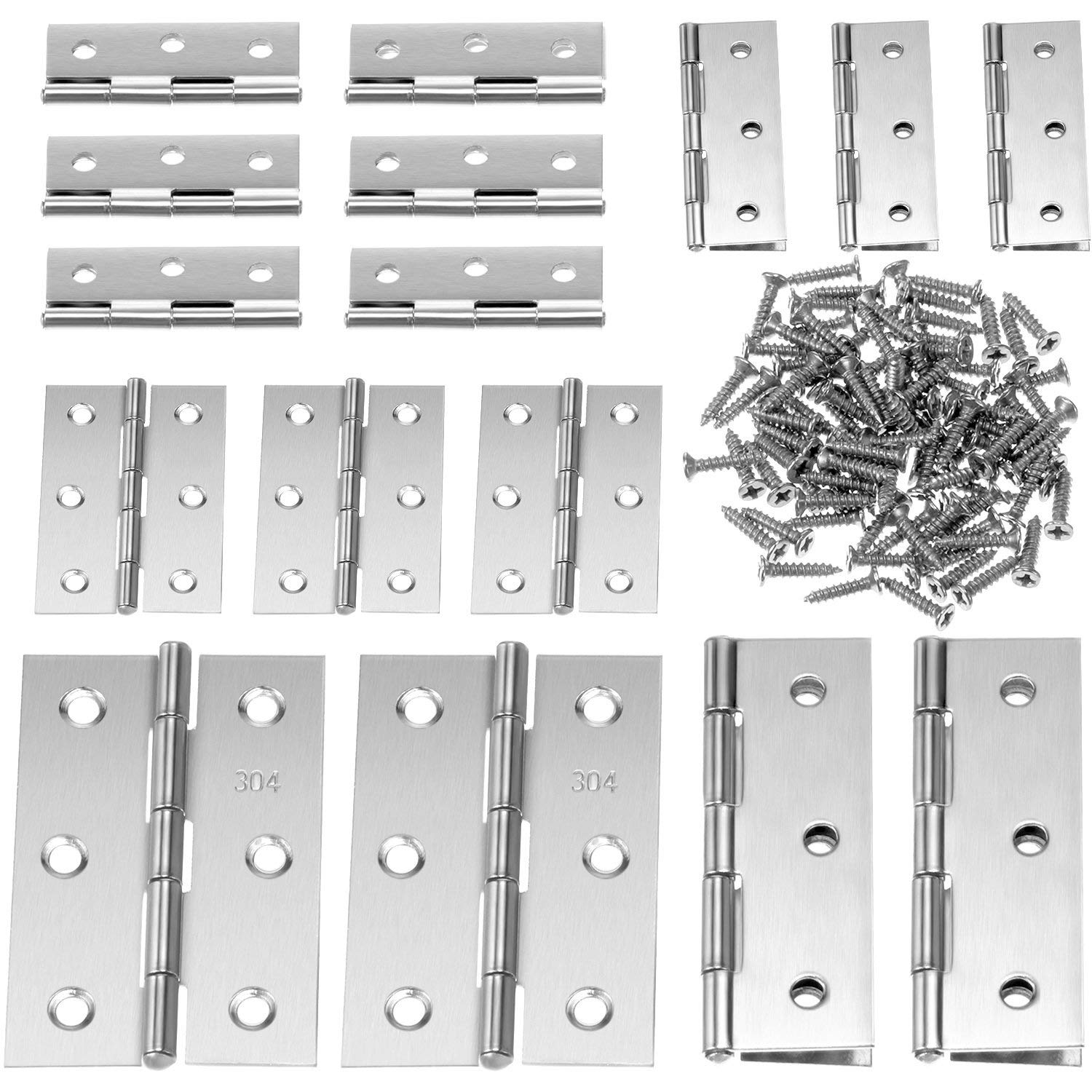 GBSTORE 10Pcs Mini Fashion Design Brass Color Butterfly Hinges Cabinet Drawer Door Butt Hinge
