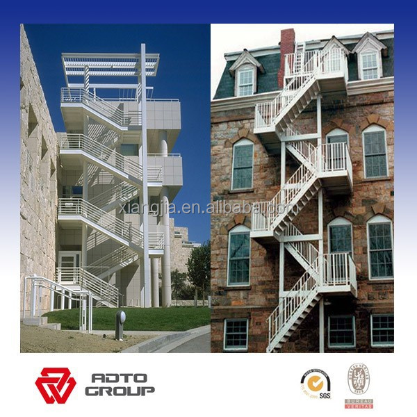 high quality hot galvanized steel structure fire escape stair from China