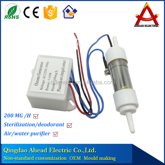 110v 200mg mini ozone generator ozonizer for <strong>water</strong> and air cleaning vegetables and fruits