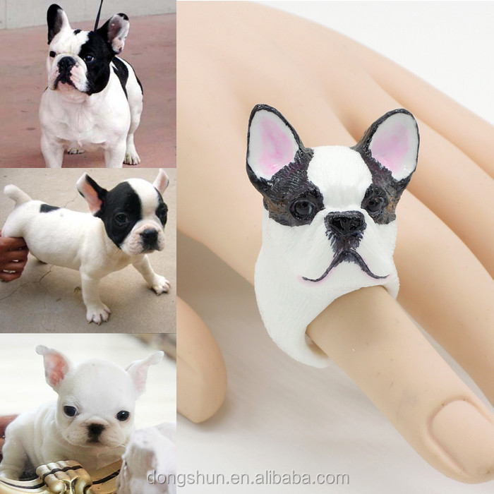 Lovely French Bull Dog Animal Ring