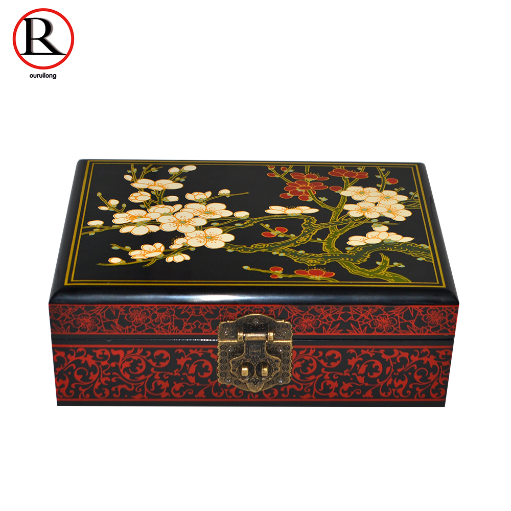 Shanxi Jewelry Box Gift Box Wood Lacquer Painting Wedding Gift Box