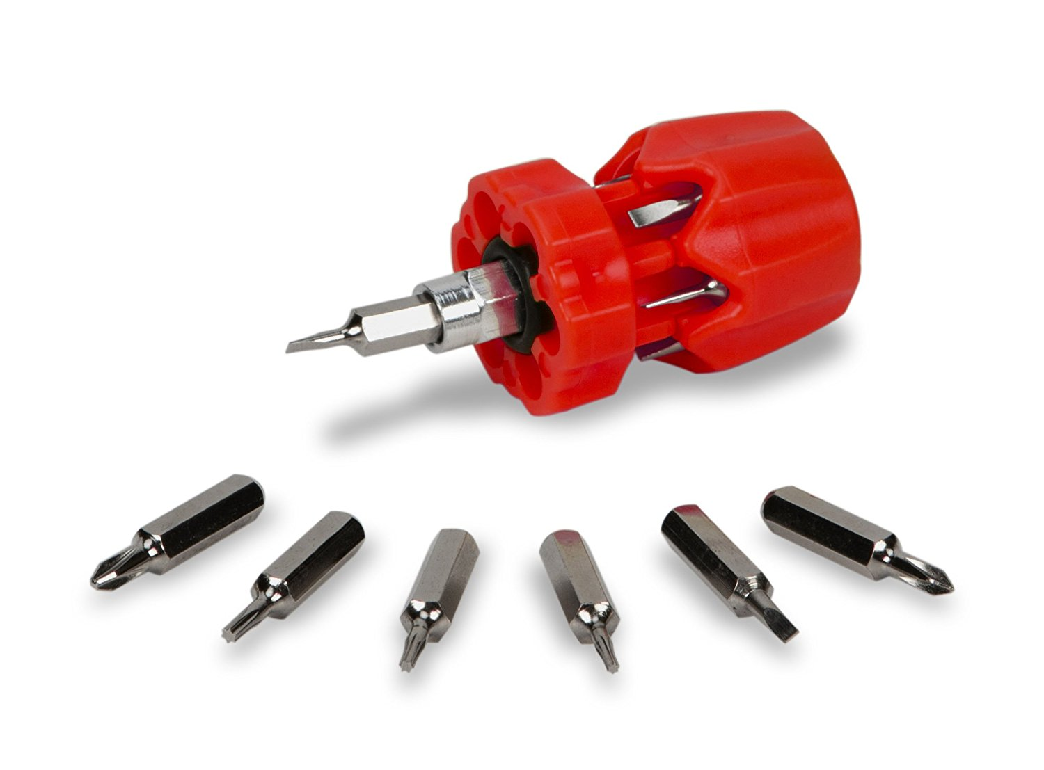3 Red Eazypower 00607 Tub of 15#2 Phillips //#3 Phillips 3-Inch Stubby Handle Screwdriver