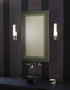 """Robern MP24D4CDRE Candre Cabinet 23-1/4""""W x 39-3/8""""H Right Hinge with Electric (MP24D4CDGRE)"""