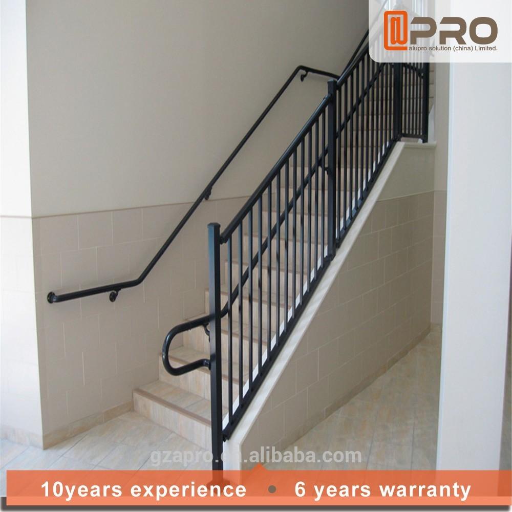 Moda modellazione ringhiera delle scale esterne in metallo - Corrimano in vetro per scale ...
