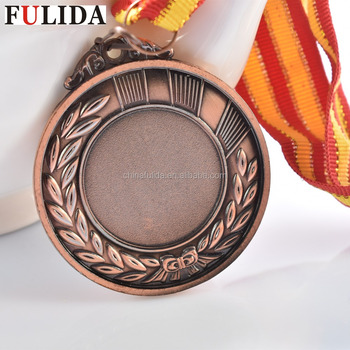 Custom metal blank gold silver bronze medal,award sports medals