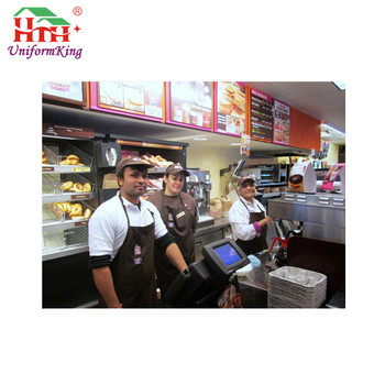 Hot selling cool cafe uniforms, coffee shop uniforms for wholesale