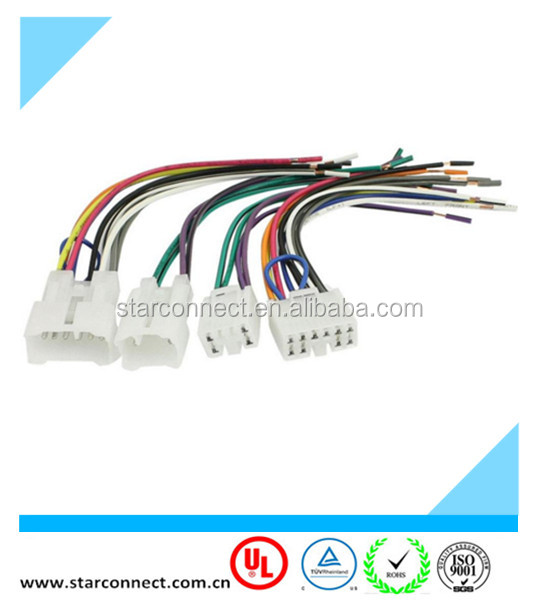 auto audio iso connector wire harness with 6 pin 10 pin connector applicable for toyota car buy car audio iso connector wire harness for toyota,car fall protection harness 10 pin wiring harness #4